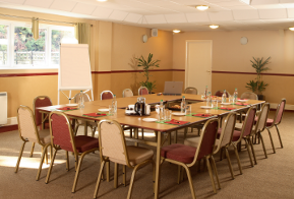 image of a conference room set up for a corporate event