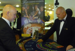 image of a casino at a corporate party