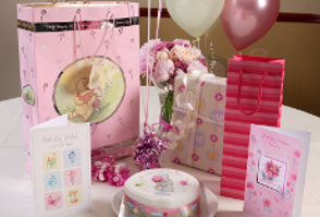 image of a birthday party present & card