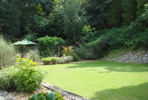 image of the gardens at Roundwood in Norwich