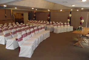 image of chairs decorated and set out at Roundwood in Norwich