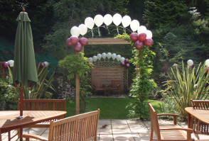 image of Roundwood in Norwich set up for a renewal of vows ceremony