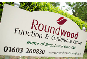image of Roundwood in Norwich`s sign