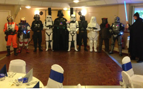 image of a Star Wars themed Wedding