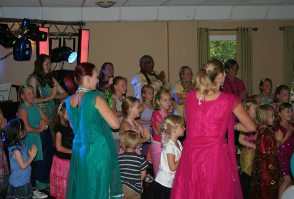 image of a childrens party at Roundwood in Norwich
