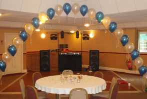 image of a dance floor decorated for a party
