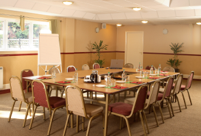 image of Roundwood`s room set up for a training course