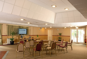 image of a room set up for a training course