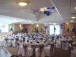 Add chair covers, sashes & balloons
