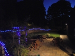Fairy lights after dark