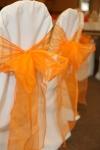 Organza sashes give subtle colour