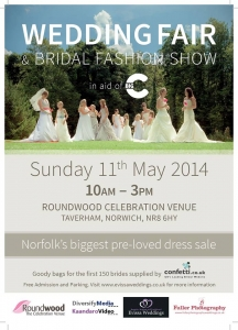 Image of the poster for the Roundwood Big C wedding Fair 2014