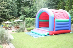Our garden has space for a bouncy castle or disco dome?