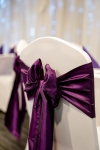 Taffeta sashes give impact