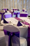 Reception table with table runners