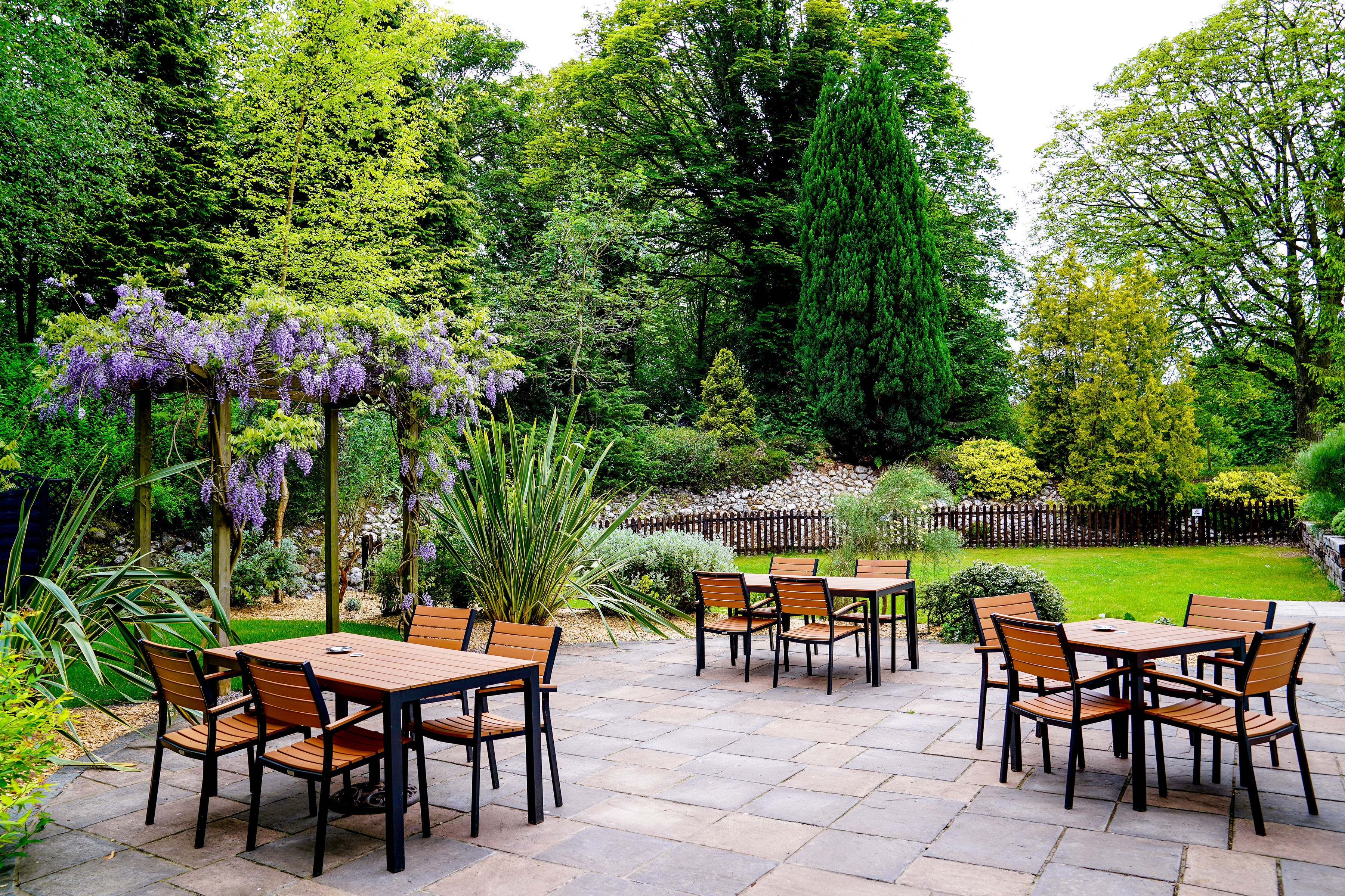 Our garden and patio area, for your exclusive use.